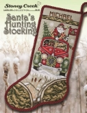 Santa's Hunting Stocking from Stoney Creek Collection