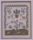 Jane Cheesbrough ~ With the Coming of Spring from 1897 Schoolhouse Samplers