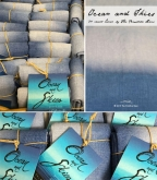 Oceans & Skies ~ 30 count hand dyed linen from the Primitive Hare ~ Available Soon!