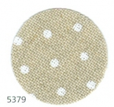 White Dots on Natural ~ 32 count Petit Point Belfast linen from Zweigart