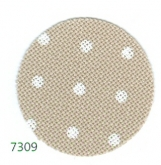 Natural with White Dots ~ 32 count Petit Point Lugana (Murano) Evenweave from Zweigart