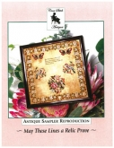 May These Lines a Relic Prove ~ Antique Sampler of the Month Feb'21 ~ Cross Stitch Antiques ~ Availa