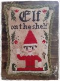 Elf on the Shelf from Fairy Wool in the Wood chart & embellishments ~ Needlework Expo 2021