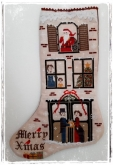 Vintage Christmas Stocking from Fairy Wool in the Wood ~ Needlework Expo 2021