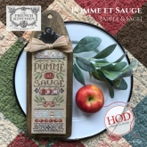 Pomme et Sauge (Apples & Sage)~ Cuisine Francaise ~ Hands On Design ~ Needlework Expo '21!