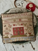 Rose Cottage Sampler Pinkeep from Stacy Nash Primitives ~ Needlework Expo 2021