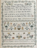Sarah Macgregor's Sampler ~ Lord's Prayer from Shakespeare's Peddler ~ Needlework Expo 2021
