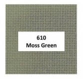 Moss Green ~ 24 count Congress Cloth from Zweigart