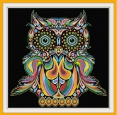 Happy Owl from Alessandra Adelaide Needleworks