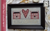 Little Pink Houses from Annie Beez Folk Art ~ Nashville 2020!