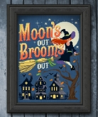 Moon's Out Brooms Out from Autumn Lane Stitchery ~ Nashville 2020!