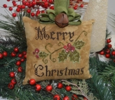 Primitive Merry Christmas Pillow from Abby Rose Designs