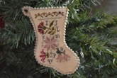 Sampler Stocking Ornament #2 from Abby Rose Designs