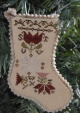 Sampler Stocking Ornament #3 from Abby Rose Designs