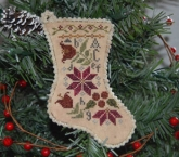 Sampler Stocking Ornament #1 from Abby Rose Designs