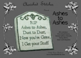 Ashes to Ashes Limited Edition kit from Cherished Stitches