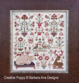 The Feathered Whisperers ~ A Reproduction Sampler  from Barbara Ana Designs