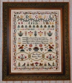 Ann Croxen 1833 Reproduction Sampler from Black Branch Needlework