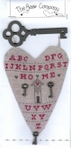 Key Heart ~ Chart with Buttons & Key Hanger from the Bee Company