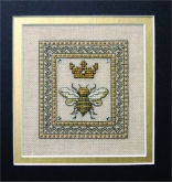 Queen Bee ~ Chart & Embellishments from the Bee Cottage/the Sweetheart Tree