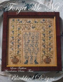 Forget Me Not ~ Abecedarian Series Chart #3 ~ Loose Feathers 2013 from Blackbird Designs