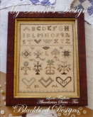 My Heart's Design ~ Abecedarian Series Chart #2 ~ Loose Feathers 2013 ~ Blackbird Designs