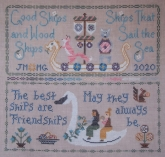 Friendship Sampler from The Blue Flower/Bendy Stitchy Designs ~ Nashville 2020 Exclusive chart!