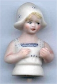 Tulip Porcelain Half Doll from Brier Rose for Little Dutch Pincushion Doll from Giulia Punti Antichi