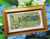 Antique Sampler Fragment 1834 Reproduction from Cross Stitch Antiques ~ Nashville 2018
