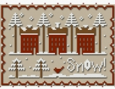 A Little Snow ~ Chart & Floss from Classic Colorworks & Little House Needleworks