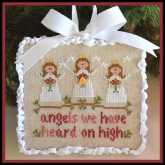 Angels ~ Chart #1 in the Classic Ornaments Collection from Country Cottage Needleworks