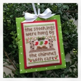 By The Chimney  ~ Chart #7 Classic Ornaments Collection from Country Cottage Needleworks