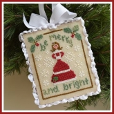 Be Merry ~ Chart #12 in the Classic Ornaments Collection from Country Cottage Needleworks