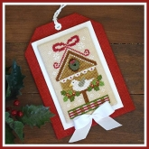 Christmas Birdhouse ~ Chart #9 Classic Ornaments Collection from Country Cottage Needleworks