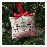 Fa La La ~ Chart #11 in the Classic Ornaments Collection from Country Cottage Needleworks