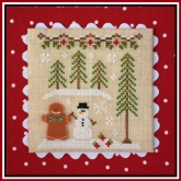 Gingerbread Boy & Snowman ~ Chart #7 Gingerbread Village from Country Cottage Needleworks