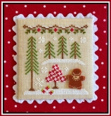 Gingerbread Girl and Peppermint Tree ~ Chart #2 Gingerbread Village from Country Cottage Needleworks