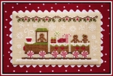 Gingerbread Train ~ Chart #1 in the Gingerbread Village series from Country Cottage Needleworks