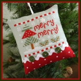Merry Merry ~ Chart #10 ~ Classic Ornaments Collection  from Country Cottage Needleworks