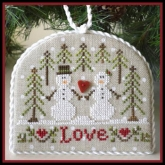 Snow Love chart #3 ~ Classic Ornaments Collection from Country Cottage Needleworks