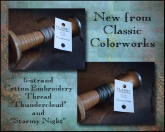 Classic Colorworks ~ 2 new colors ~ Aug 2017 ~ incl. complimentary chart by Little House Needleworks