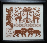 Lions and Tigers ~ American Coverlet Series ~ Part 4 from Carolina House Designs ~ 1 only!
