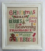 Holly and Gingerbread from Cherry Hill Stitchery
