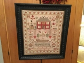 Esther Iddison 1832 Reproduction Sampler from Chessie & Me ~ Nashville 2018