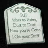 Ashes to Ashes chart from Cherished Stitches ~ Nashville 2020