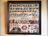Band of Roses 1845 ~ Reproduction Sampler from Cross Stitch Antiques ~ Nashville 2017