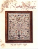 Pink Sparrow Sampler from Country Stitches / Brenda Gervais