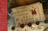 December - Word Play from Country Stitches/Brenda Gervais