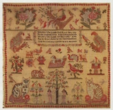 Charlotte Clayton Reproduction Sampler ~ Northwest Sampler Guild
