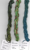 Dinky Dyes hand dyed silk ~ 3 new colors for 2017